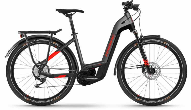 Haibike Trekking 9 i625Wh anthracite/red 2021 - E-Bike Trekkingrad Tiefeinsteiger