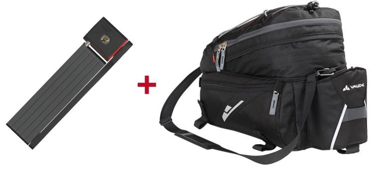Abus Faltschloss + Vaude Gepäckträgertasche