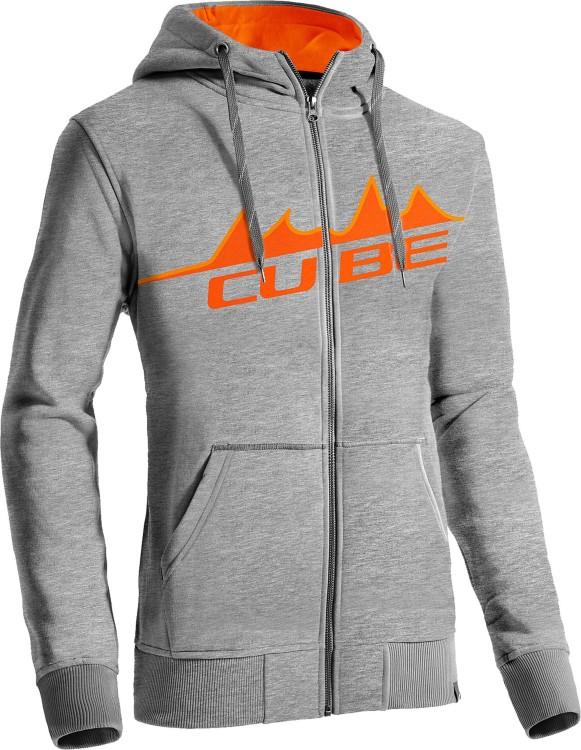 Cube Zip Hoody Mountain grey melange´n´orange