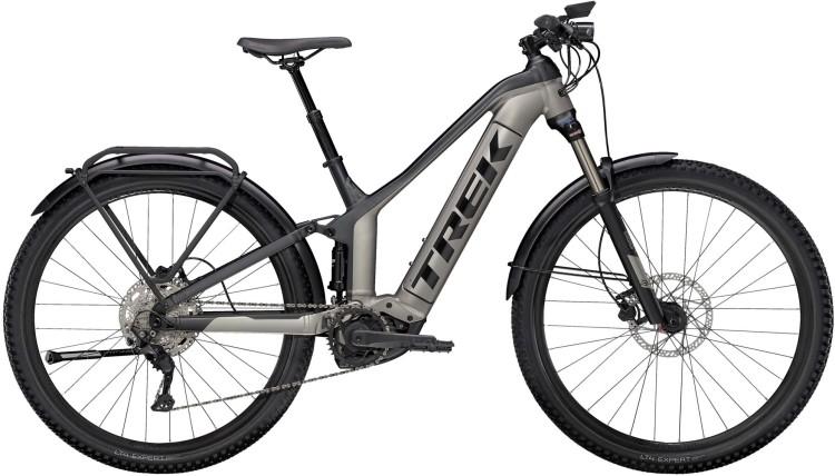 Trek Powerfly FS 4 Equipped Matte Gunmetal / Matte Black 2021 - E-Bike Fully Mountainbike Trekkingrad