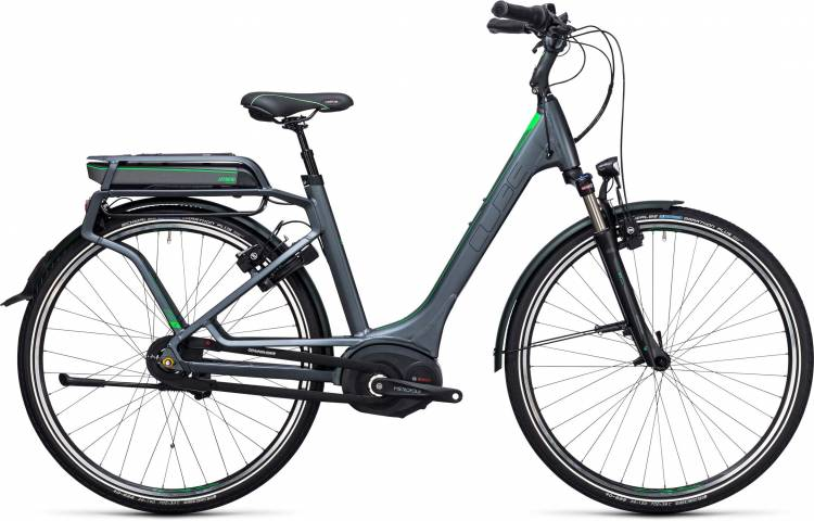 Cube Travel Hybrid Pro 500 grey n flashgreen Easy Entry 2017