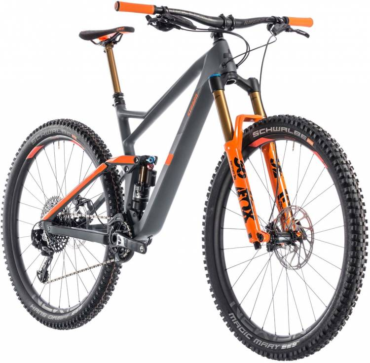 cube stereo 150 c 68 tm 29 grey n orange 2019 mountainbike. Black Bedroom Furniture Sets. Home Design Ideas