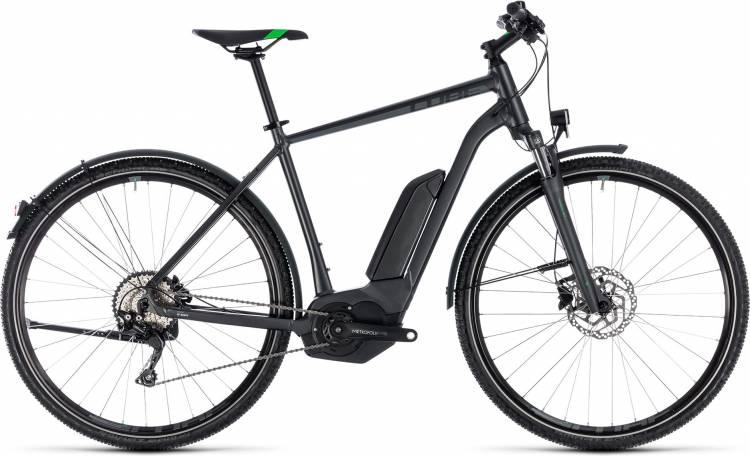 Cube Cross Hybrid Pro Allroad 400 grey n flashgreen 2018 - Herren E-Bike Crossrad