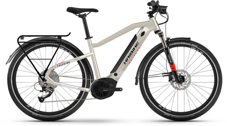 Haibike Trekking 4 i500Wh desert/white 2021 - E-Bike Trekkingrad Herren