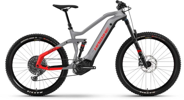 Haibike AllMtn 6 i600Wh urban grey/black/red m. 2021 - E-Bike Fully Mountainbike