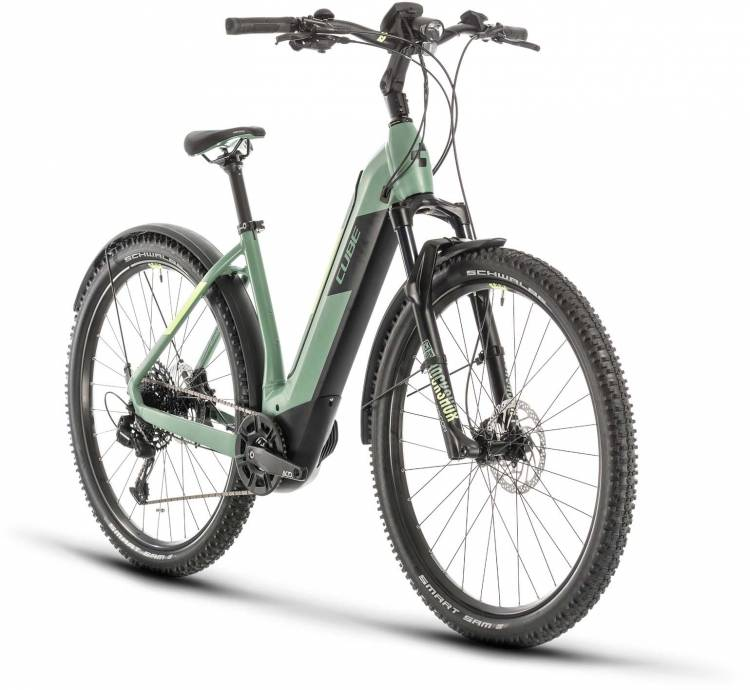 Cube Nuride Hybrid EXC 500 Allroad green n sharpgreen 2020 - E-Bike Hardtail Mountainbike
