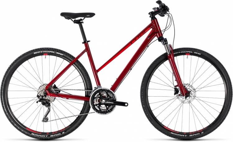 Cube Nature SL darkred n red 2018 - Damen Trapez Crossrad