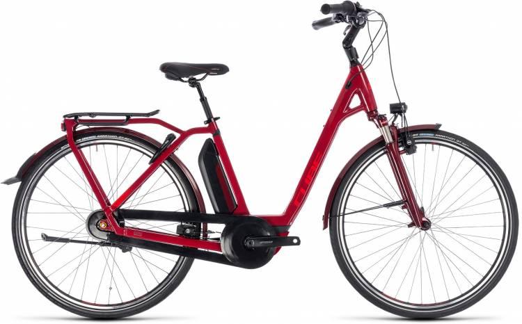 Cube Town Hybrid Pro 400 darkred n red 2018 - Tiefeinsteiger E-Bike Trekkingrad