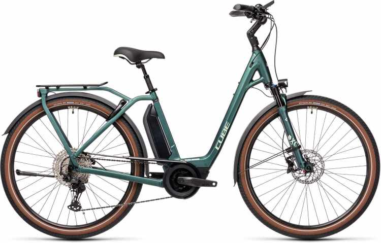 Cube Town Sport Hybrid EXC 500 green n green 2021 - E-Bike Trekkingrad Tiefeinsteiger