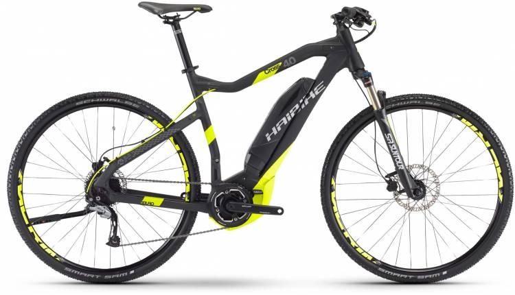 Haibike SDURO Cross 4.0 400Wh schwarz/lime matt 2017 - Herren E-Bike Crossrad