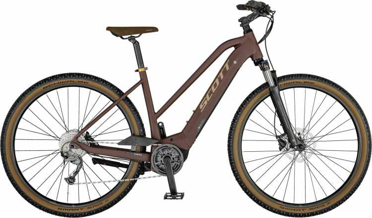 Scott Sub Cross eRIDE 30 Lady matte bordeaux / skin pink 2021 - E-Bike Crossrad Damen