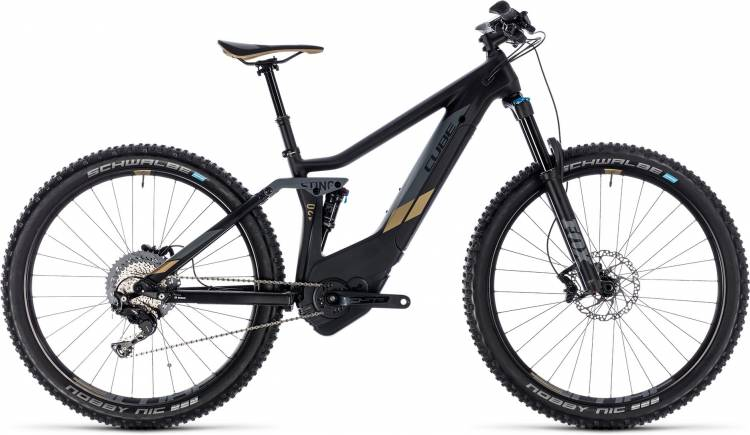 Cube Sting Hybrid 120 HPC SL 500 carbon n gold 2018 - Damen E-Bike Fully Mountainbike