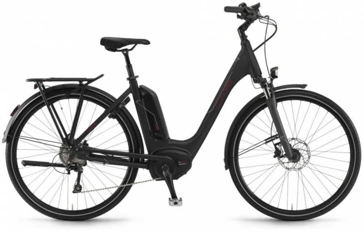 """Winora Tria 10 500Wh 28"""" schwarz matt 2018 - Tiefeinsteiger E-Bike Trekkingrad"""