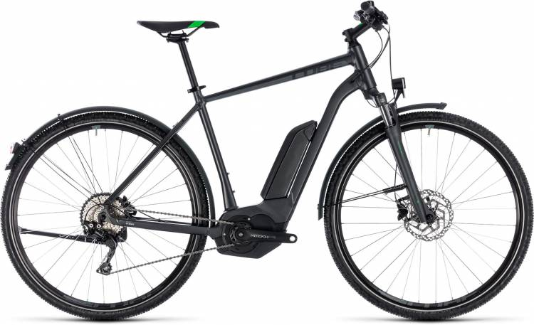 Cube Cross Hybrid Pro Allroad 500 grey n flashgreen 2018 - Herren E-Bike Crossrad