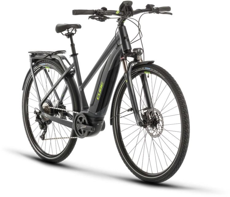 Cube Touring Hybrid EXC 500 iridium n green 2020 - E-Bike Trekkingrad Damen