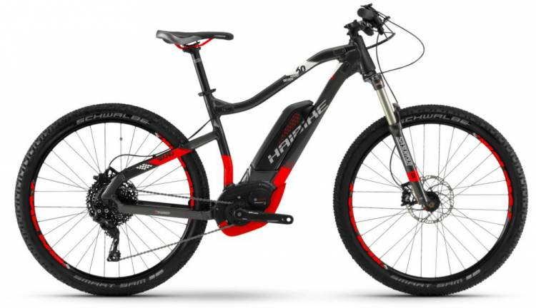 Haibike SDURO HardSeven 6.0 500Wh anthr./rot/weiß 2018 - E-Bike Hardtail Mountainbike