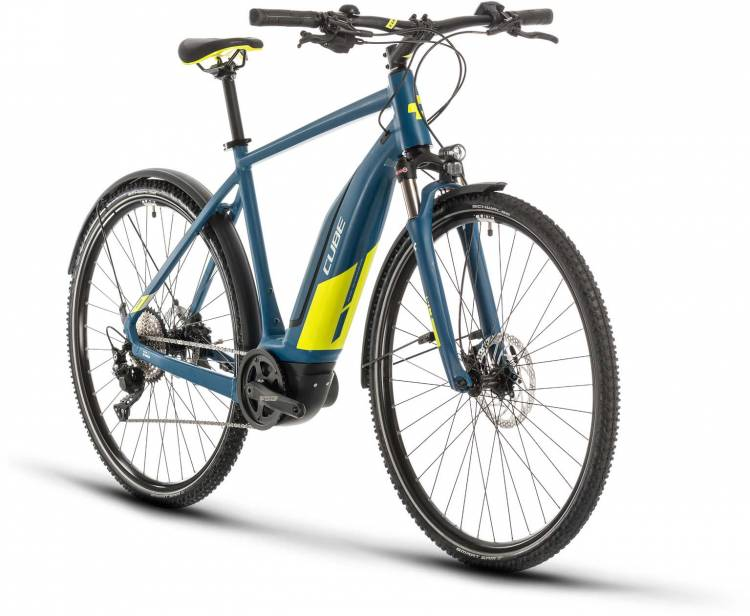 Cube Nature Hybrid EXC 500 Allroad blue n lime 2020 - E-Bike Crossrad Herren