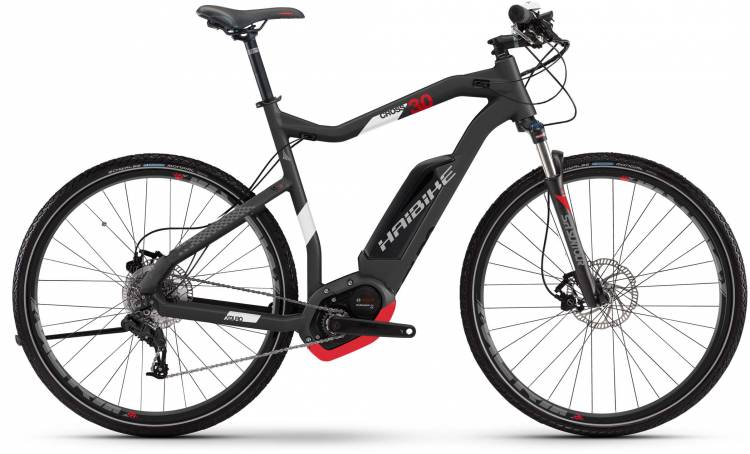 Haibike XDURO Cross 3.0 500Wh titan/weiß/rot matt 2017 - Herren E-Bike Crossrad
