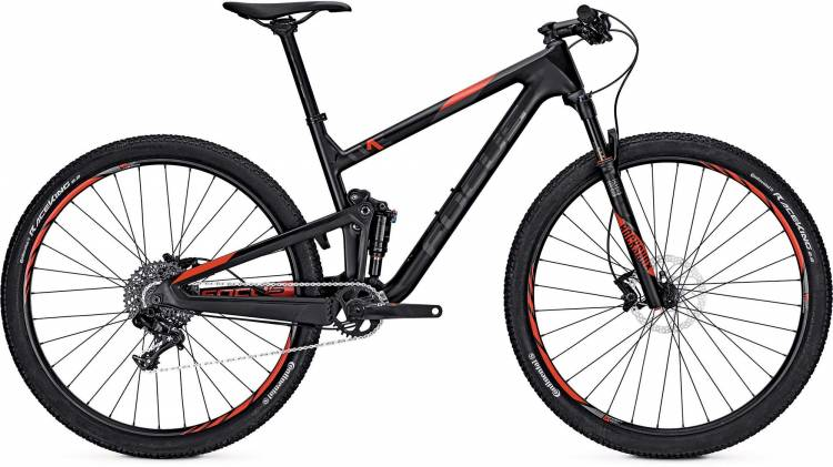 Focus O1E Evo 29 black/red 2017 - Fully Mountainbike