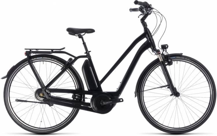 Cube Town Hybrid Pro 400 black n grey 2018 - Damen Trapez E-Bike Trekkingrad