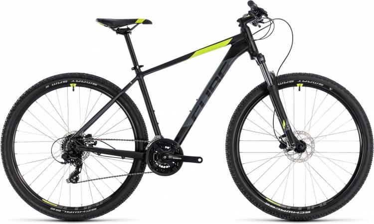 Cube Aim Pro black n flashyellow 2018 - Hardtail Mountainbike