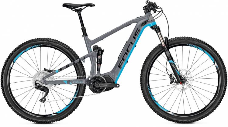 Focus Jam2 29 grey/blue 2017 - E-Bike Fully Mountainbike