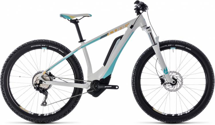 Cube Access Hybrid Pro 400 white n blue 2018 - Damen E-Bike Hardtail Mountainbike