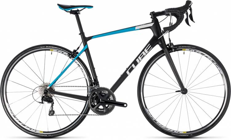Cube Attain GTC Pro carbon n blue 2018 - Herren Carbon Rennrad