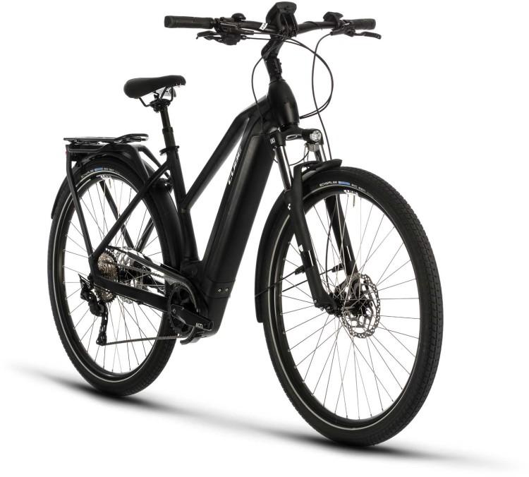 Cube Kathmandu Hybrid Pro 625 black n white 2020 - E-Bike Trekkingrad Damen