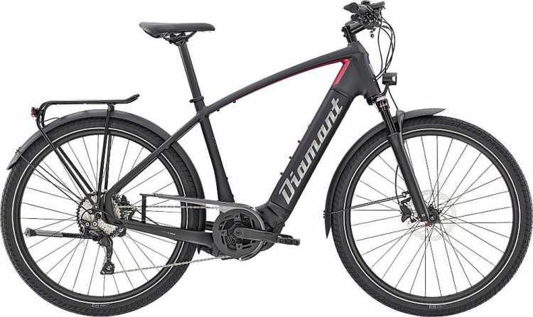 Diamant Zouma Deluxe+ HER Tiefschwarz Rhodonit Metallic 2021 - E-Bike Trekkingrad Herren
