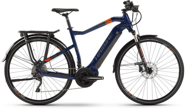 Haibike SDURO Trekking 5.0 500Wh Blau/Orange/Titan 2020