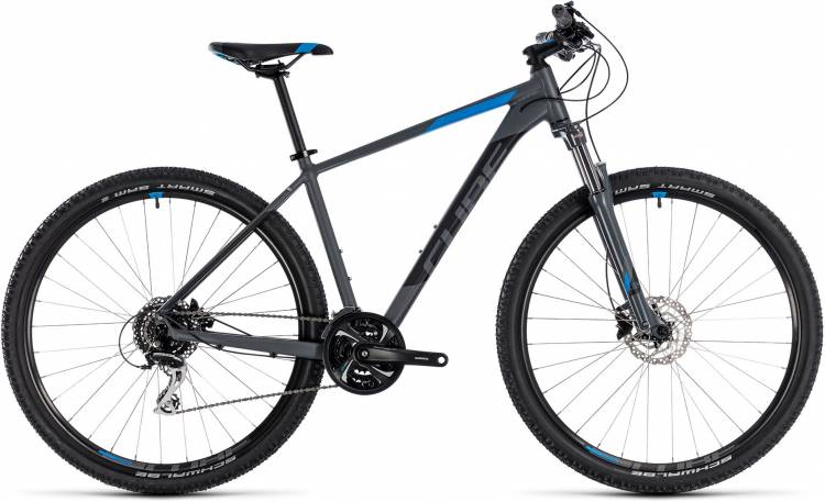 Cube Aim Race grey n blue 2018 - Hardtail Mountainbike