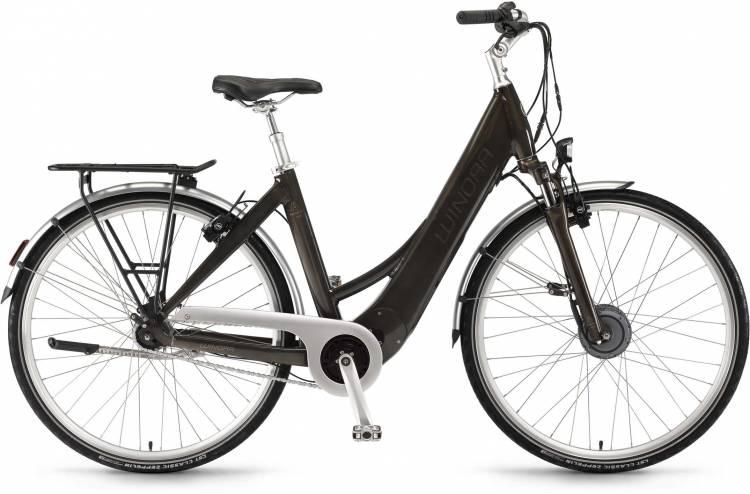 """Winora Manto F7auto 28"""" 7-G RT 400Wh havannabraun 2017 - Tiefeinsteiger E-Bike Trekkingrad"""