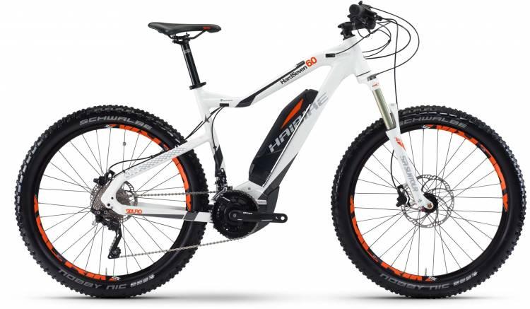 Haibike SDURO HardSeven 6.0 500Wh weiß/anthrazit/orange 2017 - E-Bike Hardtail Mountainbike