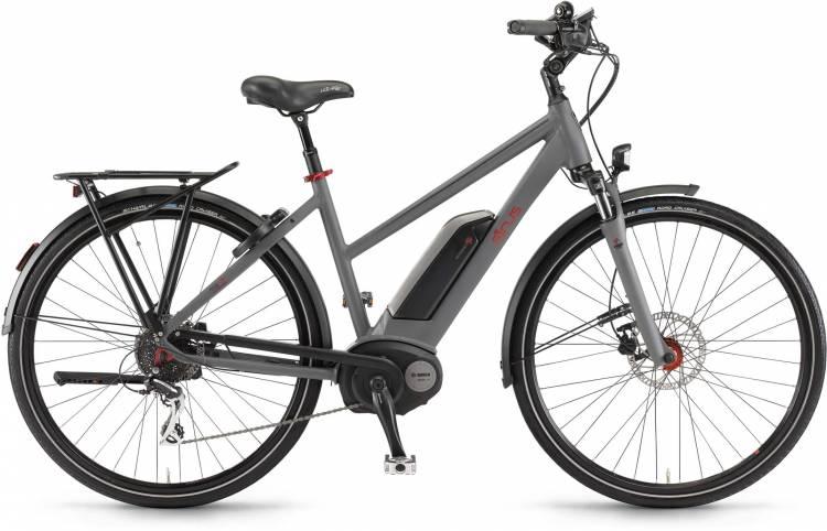 """Sinus Tria 8 400Wh 28"""" schiefer matt 2017 - Damen Trapez E-Bike Trekkingrad"""