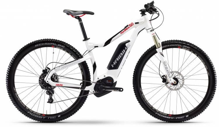 Haibike XDURO HardNine 5.0 500Wh weiß/schwarz/rot 2017 - E-Bike Hardtail Mountainbike