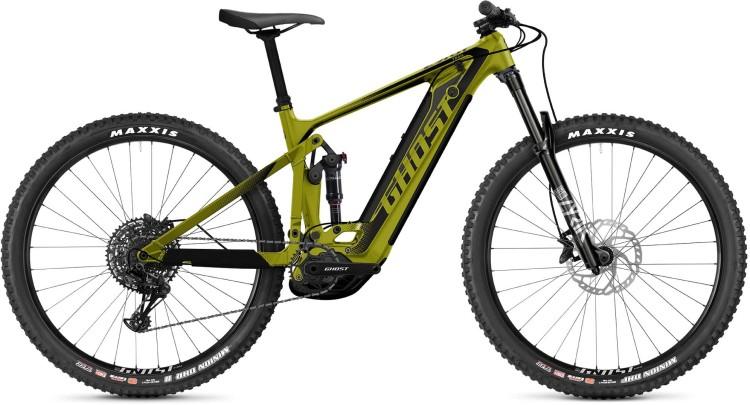 Ghost E-Riot Trail CF Advanced green / black / gray 2021 - E-Bike Fully Mountainbike