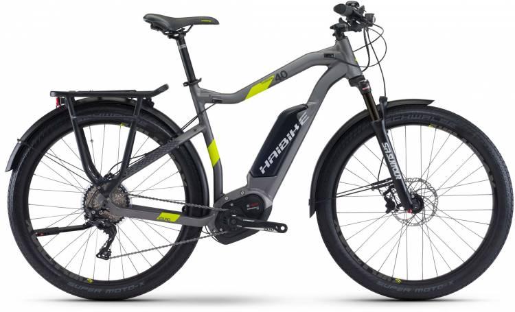 Haibike XDURO Trekking 4.0 500Wh titan/lime matt 2017 - Herren E-Bike Trekkingrad