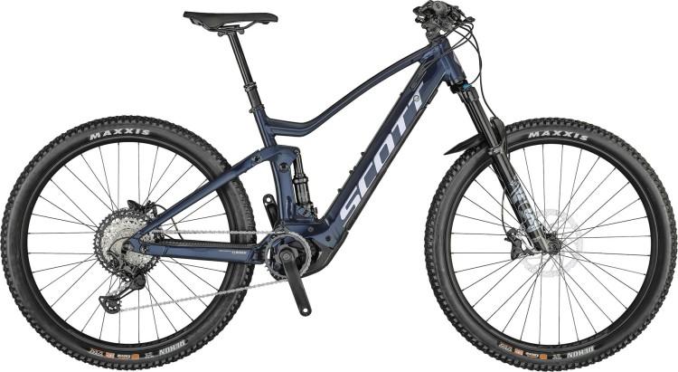 Scott Strike eRIDE 910 stellar blue / brushed chrom 2021 - E-Bike Fully Mountainbike