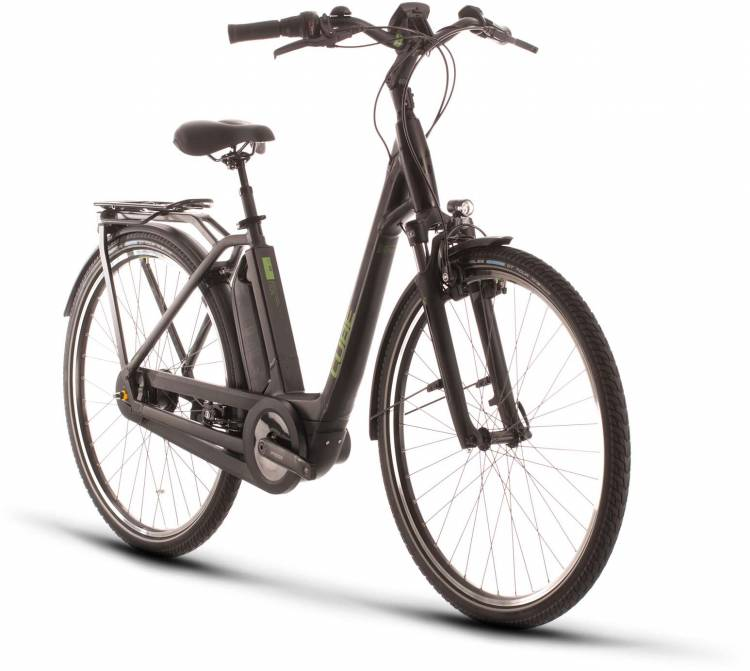 Cube Town Hybrid Pro 500 black n green 2020 - E-Bike Trekkingrad Tiefeinsteiger
