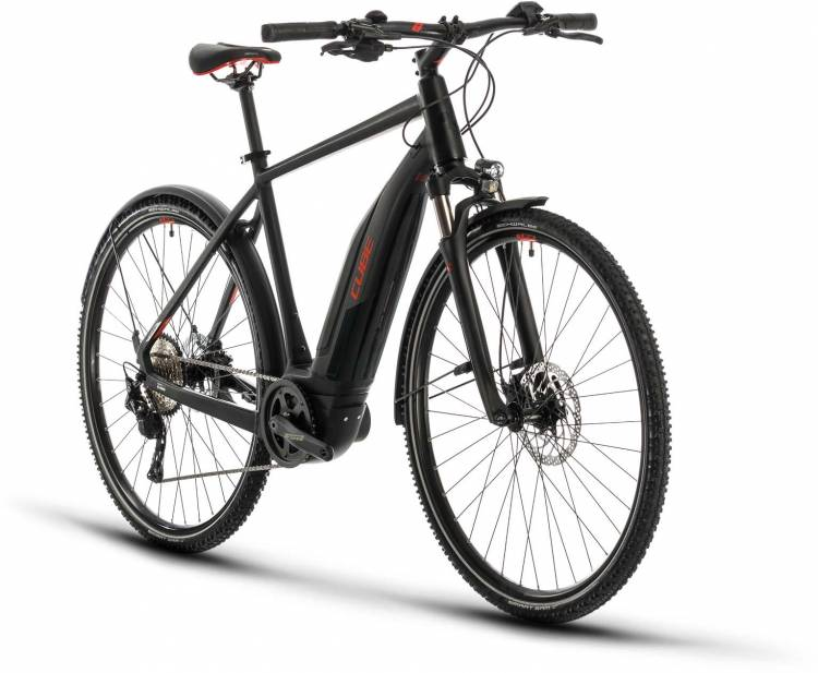 Cube Nature Hybrid EXC 500 Allroad black n red 2020 - E-Bike Crossrad Herren