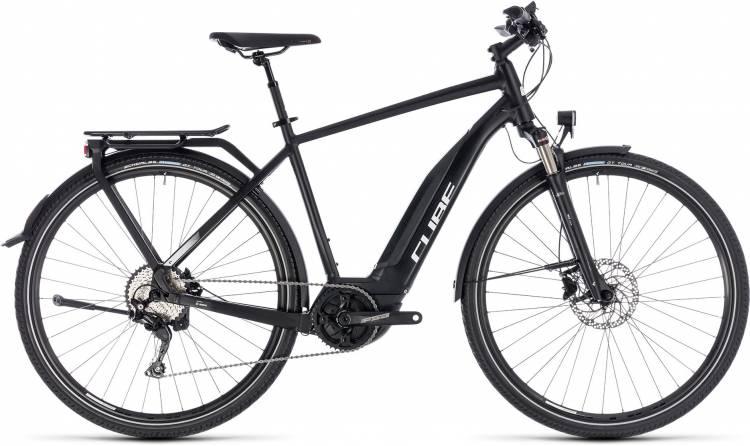 Cube Touring Hybrid Pro 400 black n white 2018 - Herren E-Bike Trekkingrad