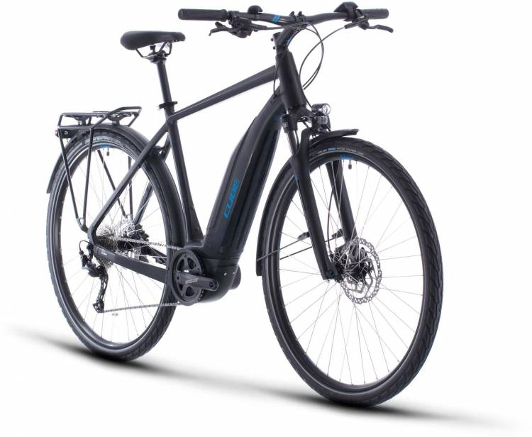 Cube Touring Hybrid ONE 500 black n blue 2020 - E-Bike Trekkingrad Herren