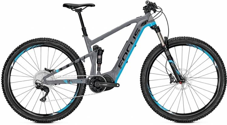 Focus Jam2 29 Ltd grey/blue 2017 - E-Bike Fully Mountainbike
