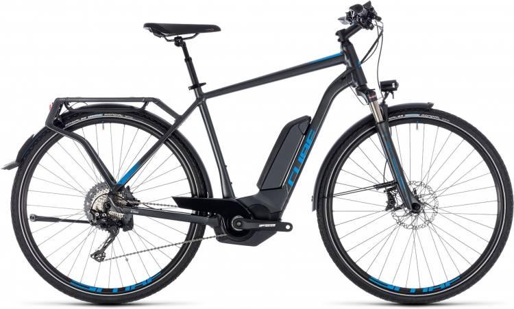 Cube Kathmandu Hybrid EXC 500 iridium n blue 2018 - Herren E-Bike Trekkingrad