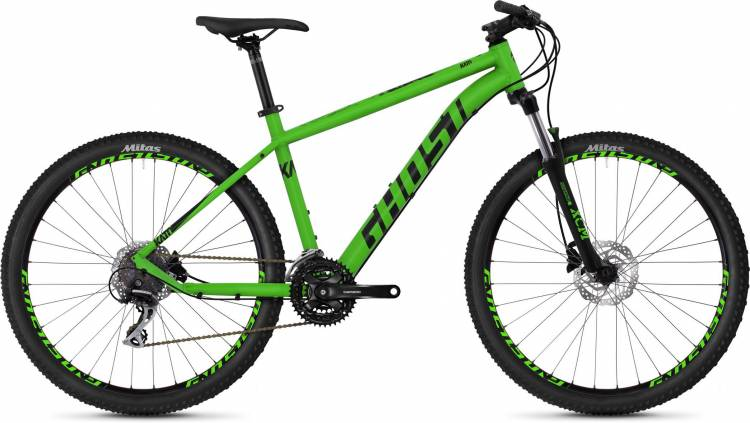 Ghost Kato 3.7 AL U riot green / night black 2020 - Hardtail Mountainbike