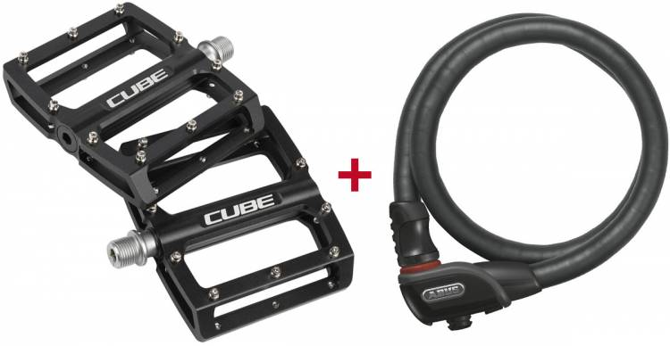 Cube Pedale All Mountain + Abus Fahrradschloss