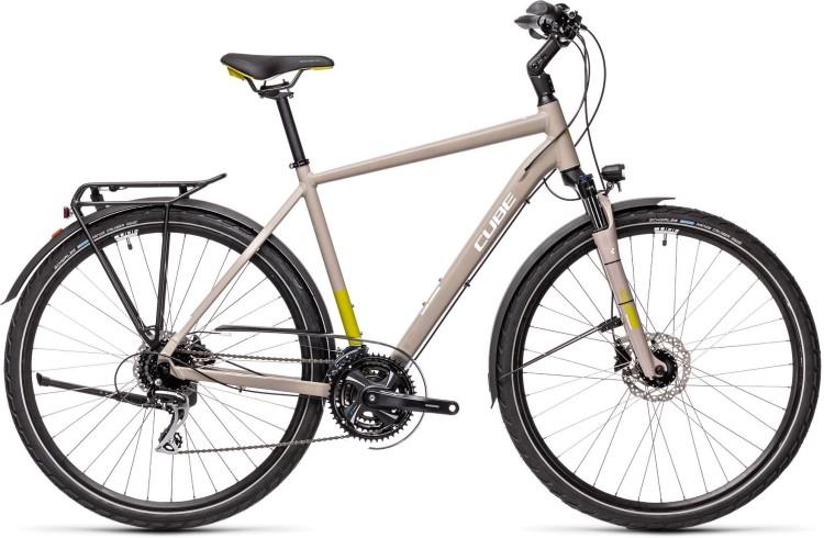 Cube Touring Pro grey n green 2021 - Trekkingrad Herren