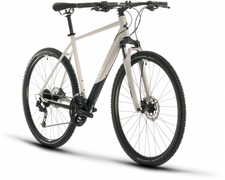 Cube Nature Pro grey n white 2020 - Crossrad Herren