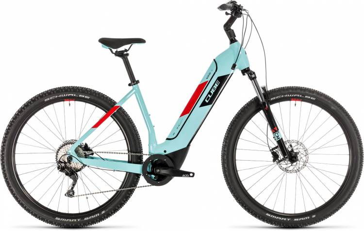 Cube Nuride Hybrid Pro 500 glacierblue n red 2020 - E-Bike Hardtail Mountainbike